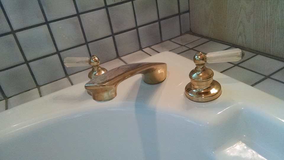 Bathroom Sink Fixture Before